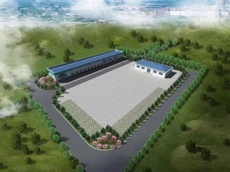 内蒙古水厂效果图